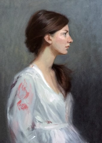 Portrait of Franziska painted by DSH artist Daisy Sims Hilditch