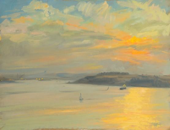 Sunset Looking towards Falmouth