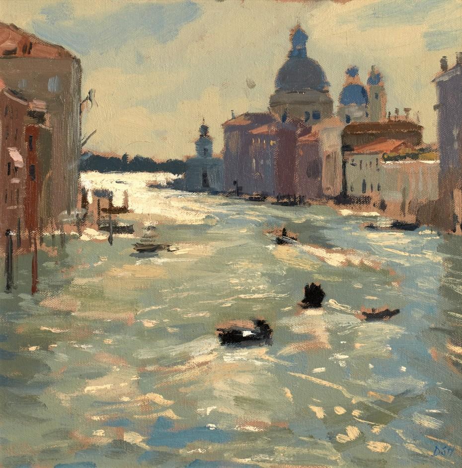 Morning Light and Boats on the Grand Canal