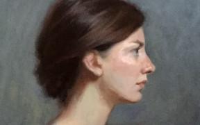 Portrait of Franziska - Royal Institute of Oil Painters