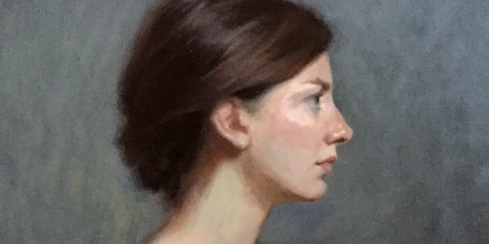 Portrait of Franziska - Royal Institute of Oil Painters