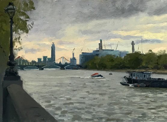 April morning along the Embankment