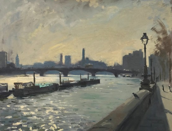 Morning light from the Embankment, looking towards Lots Road Powerstation