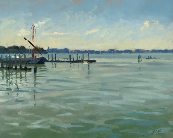 Early morning light by the Giudecca boat yard