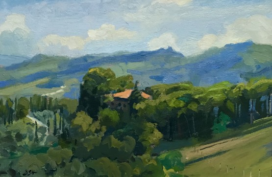 Afternoon light, Panzano