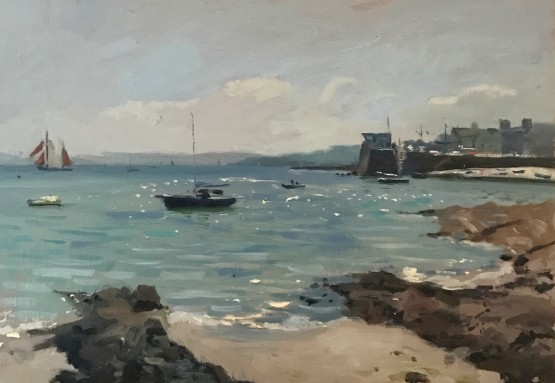 Afternoon Light, St Mawes Harbour Wall