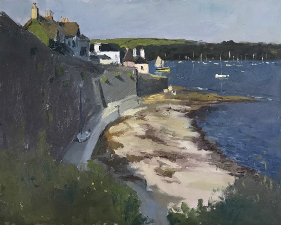 Evening Light and Shade on the Tresanton Beach, St Mawes