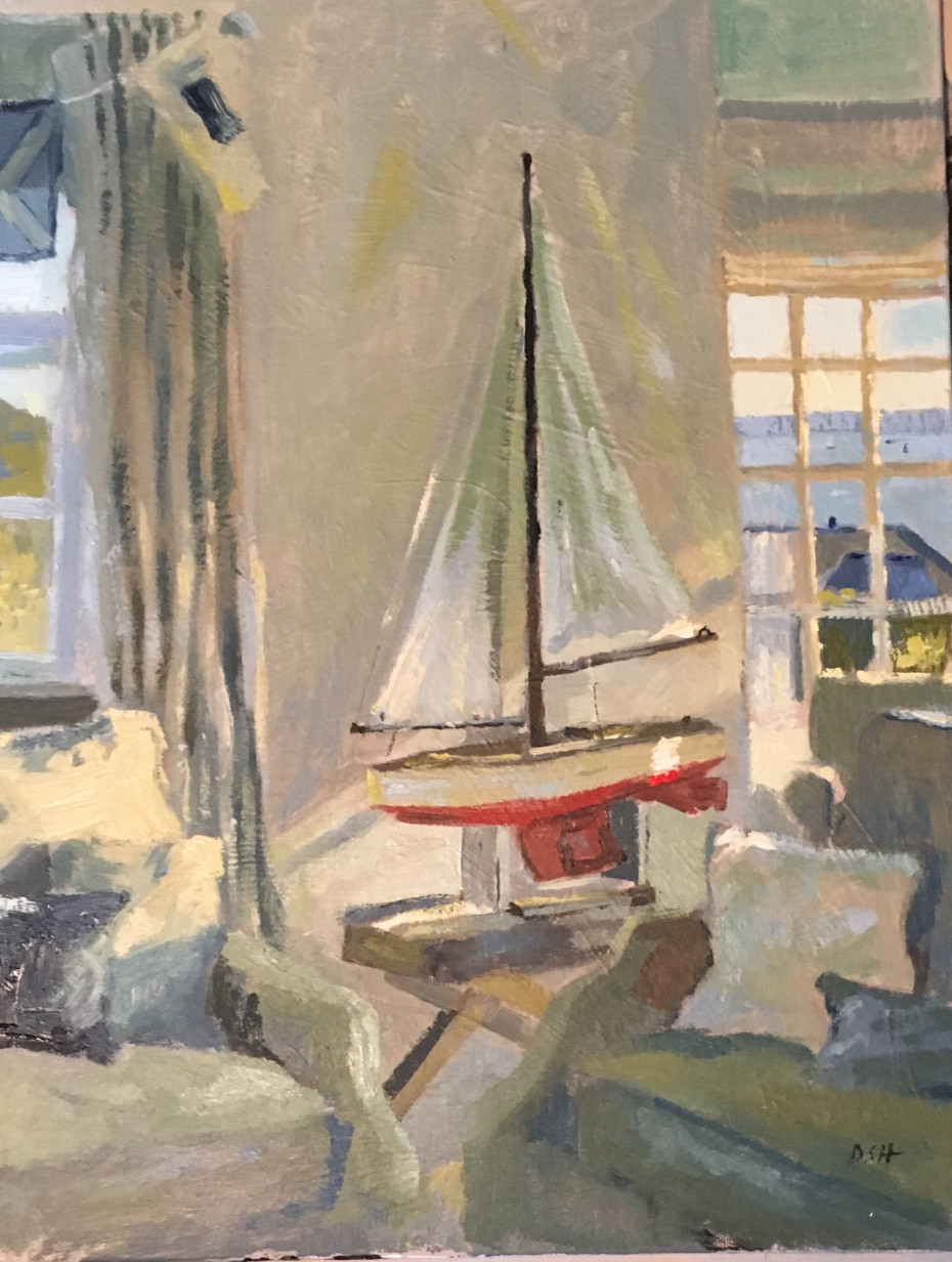 St Mawes Evening Light filtering into the room, St Mawes