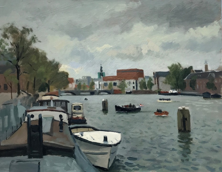 White Boat from the Magere Bruge