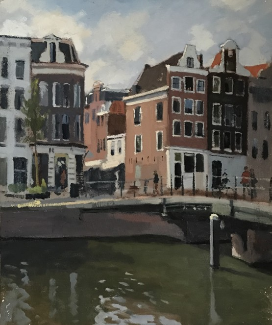 A Quiet Afternoon by a small canal in Amsterdam