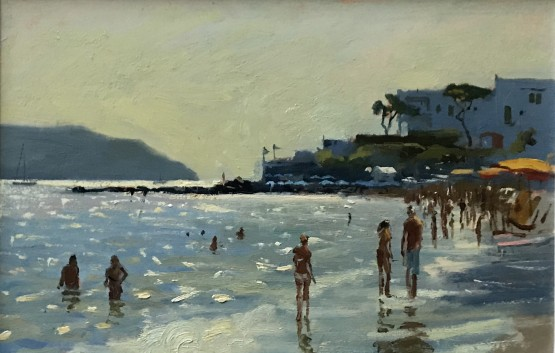 Evening light on the beach, Ischia