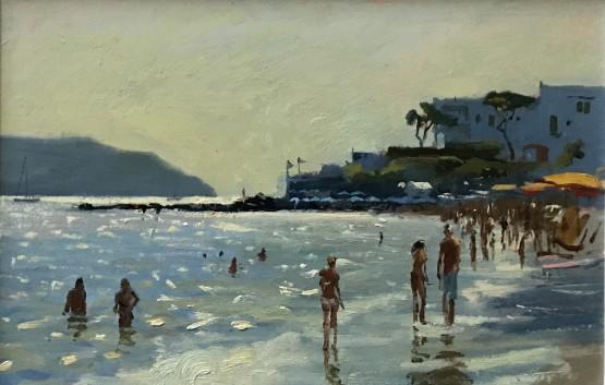 Evening light on the beach, Ischia