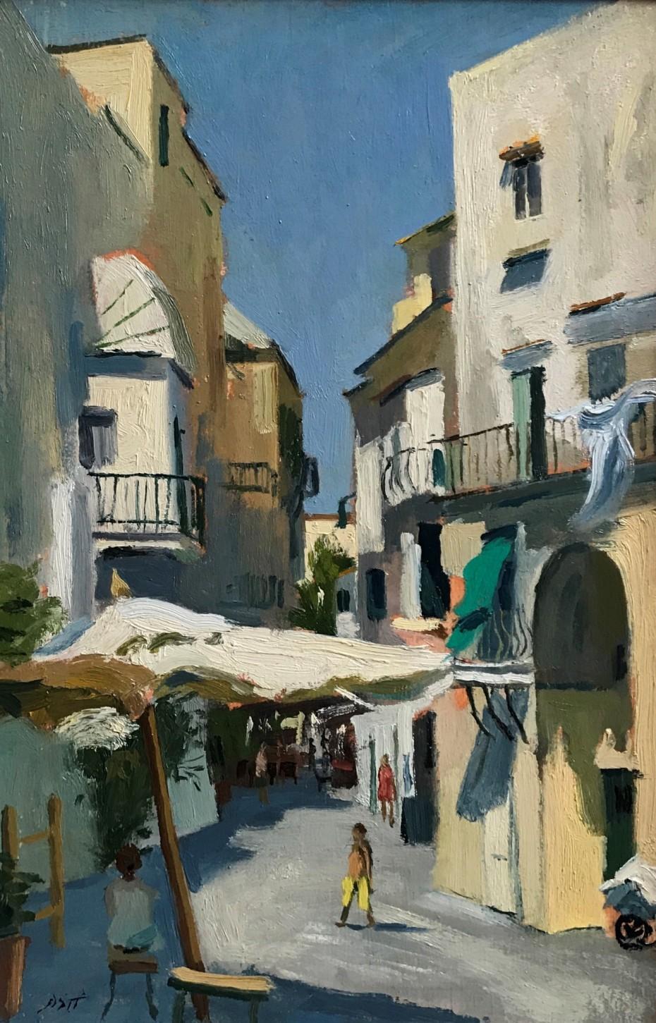 Sun bathed street on Ischia