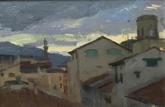 Evening light over Florence