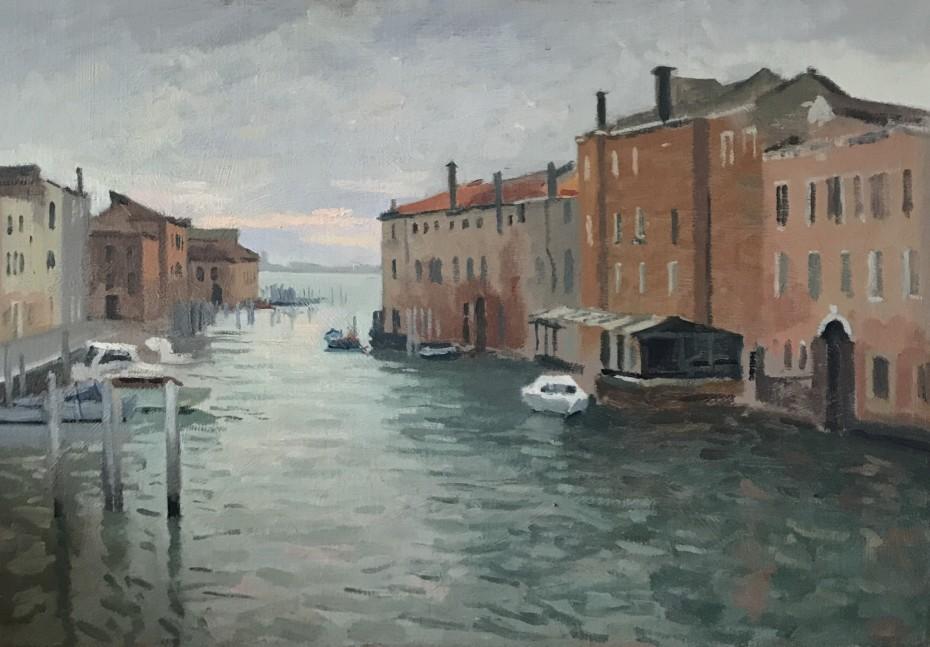 Winter Light from the Ponte Longo, Venice
