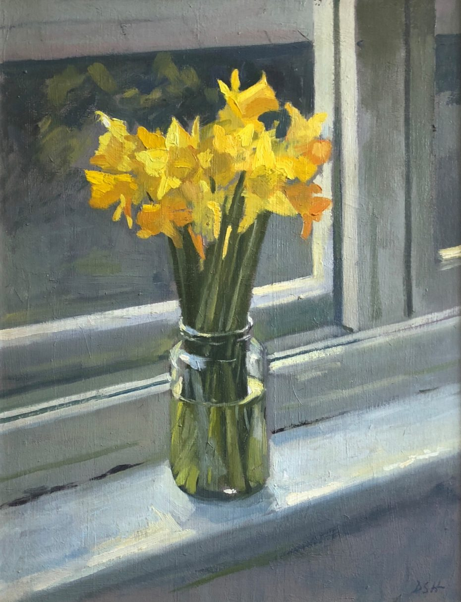 Daffodils on the Studio Windowsill
