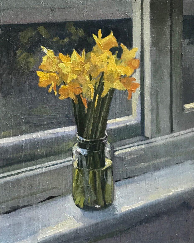 Daffodils on the Studio Windowsill