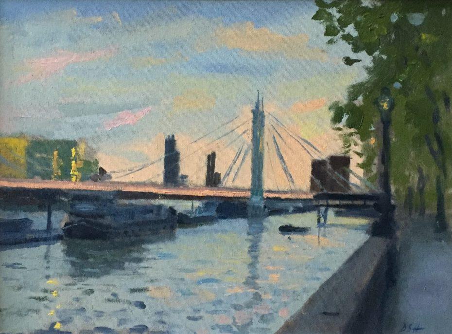 Summer Evening Light by the Albert Bridge