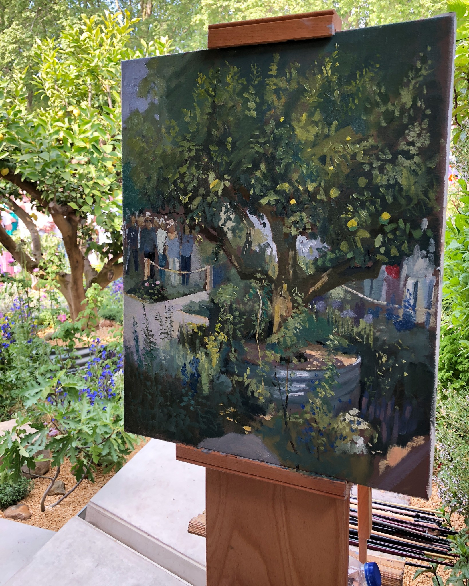 Painting at Chelsea Flower Show