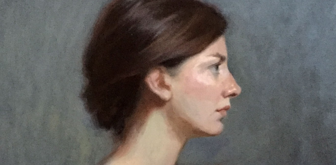 Exhibited 'Franziska' at the Royal Institute of Oil Painters, London