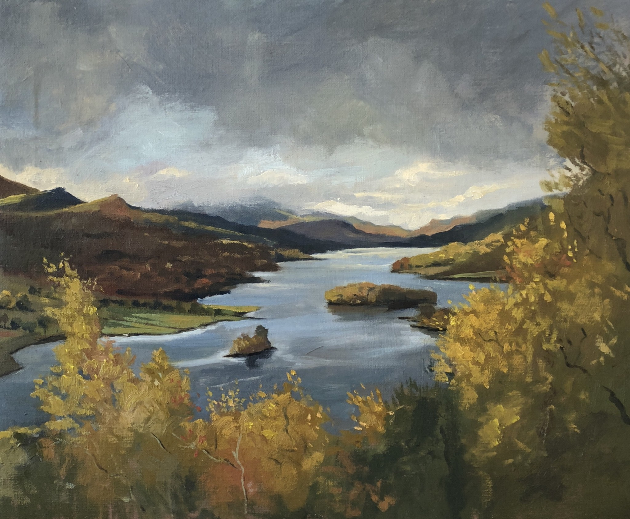 Autumn stormy light over Loch Tummel