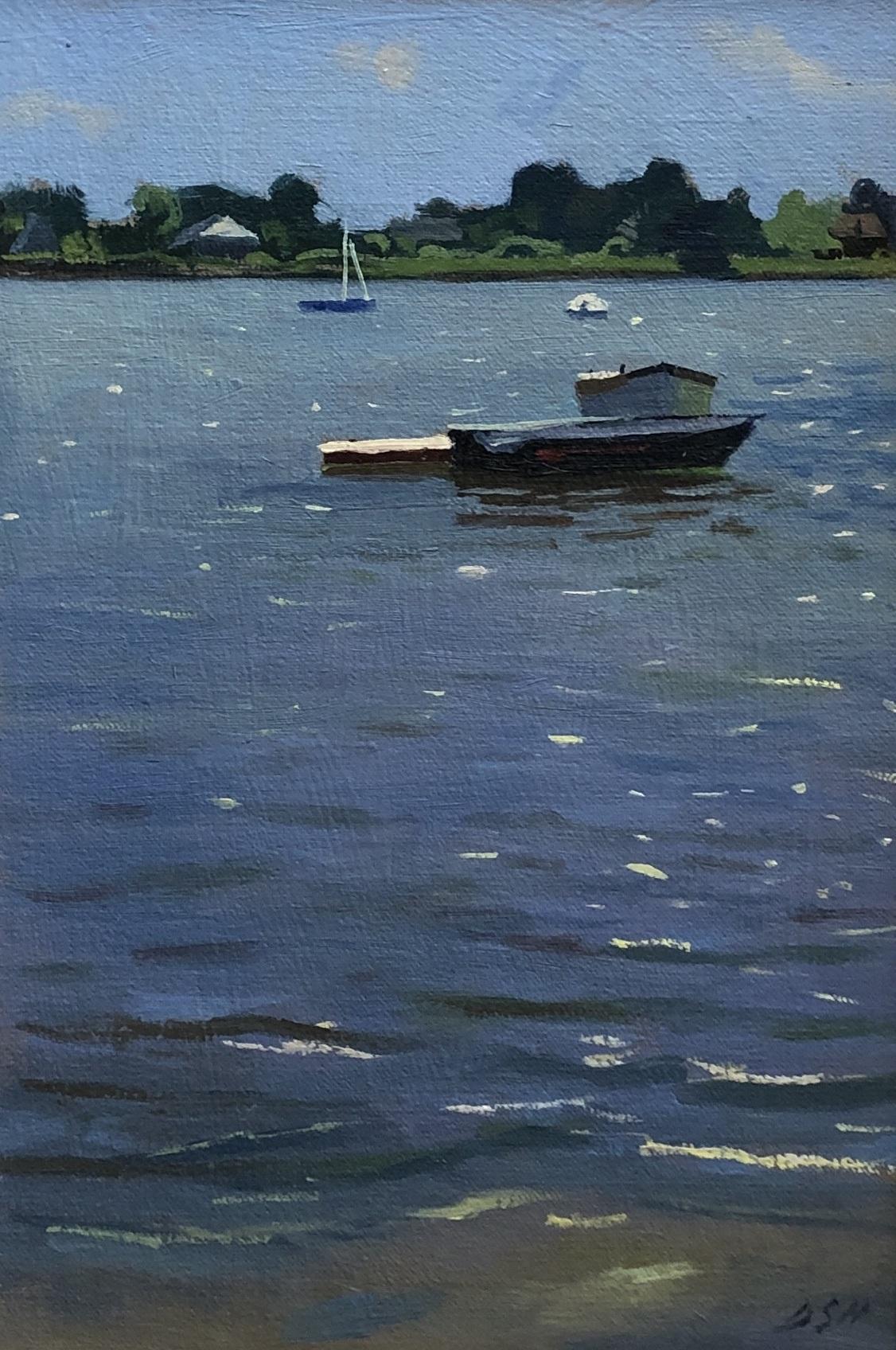 Spring afternoon, Boats at Bosham