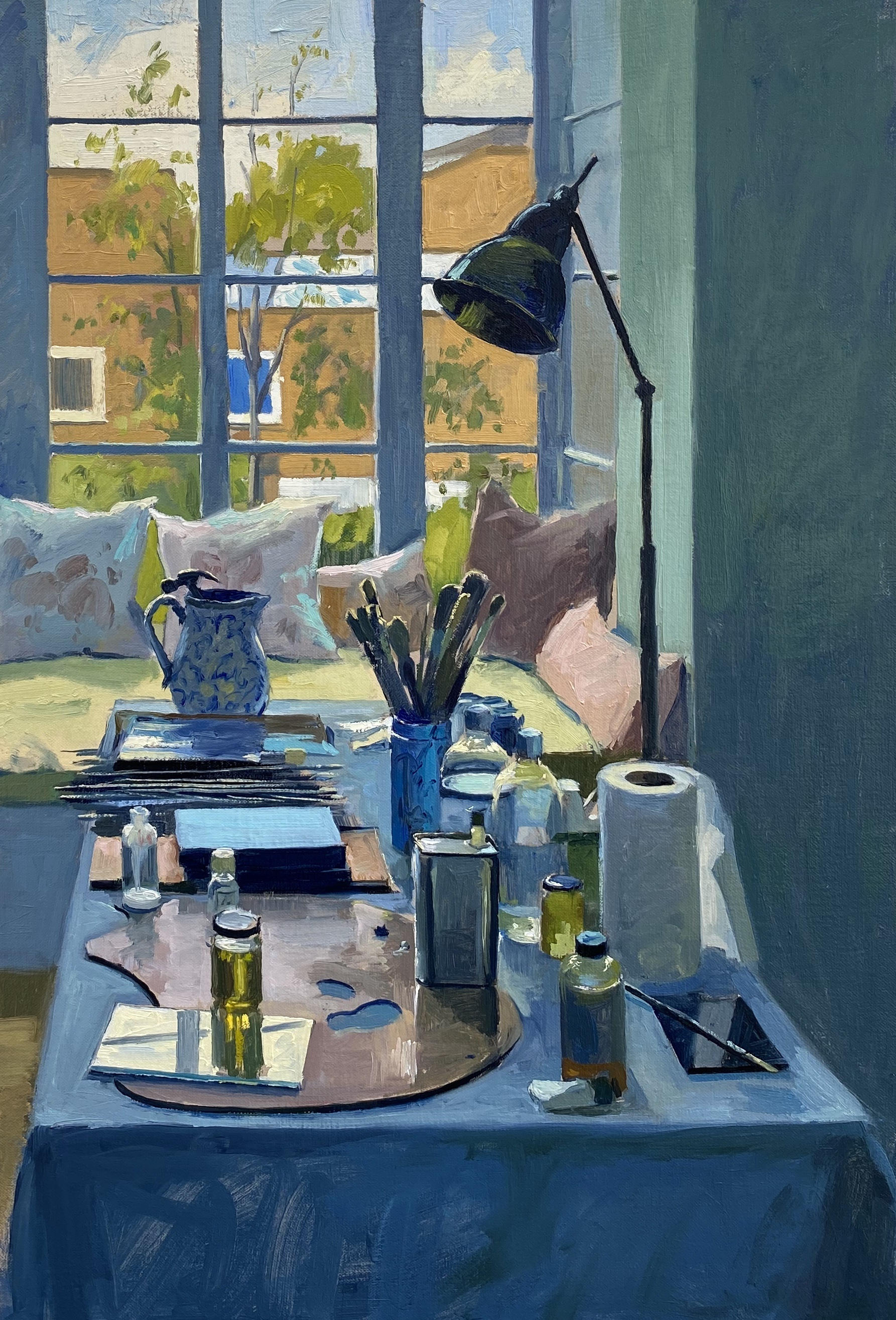 Studio Reflections in Blue