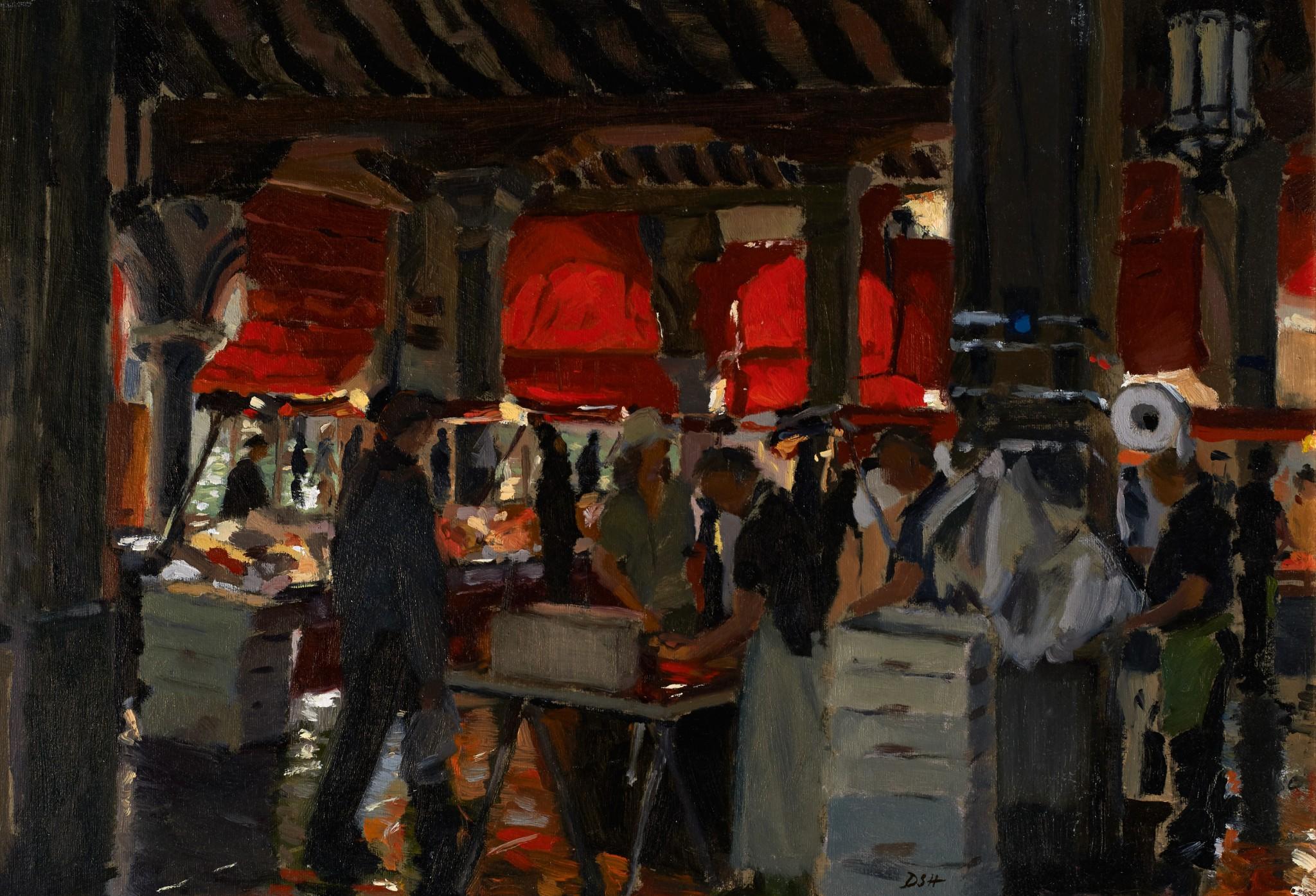 A Busy Sunday at the Rialto Fish Market, Venice