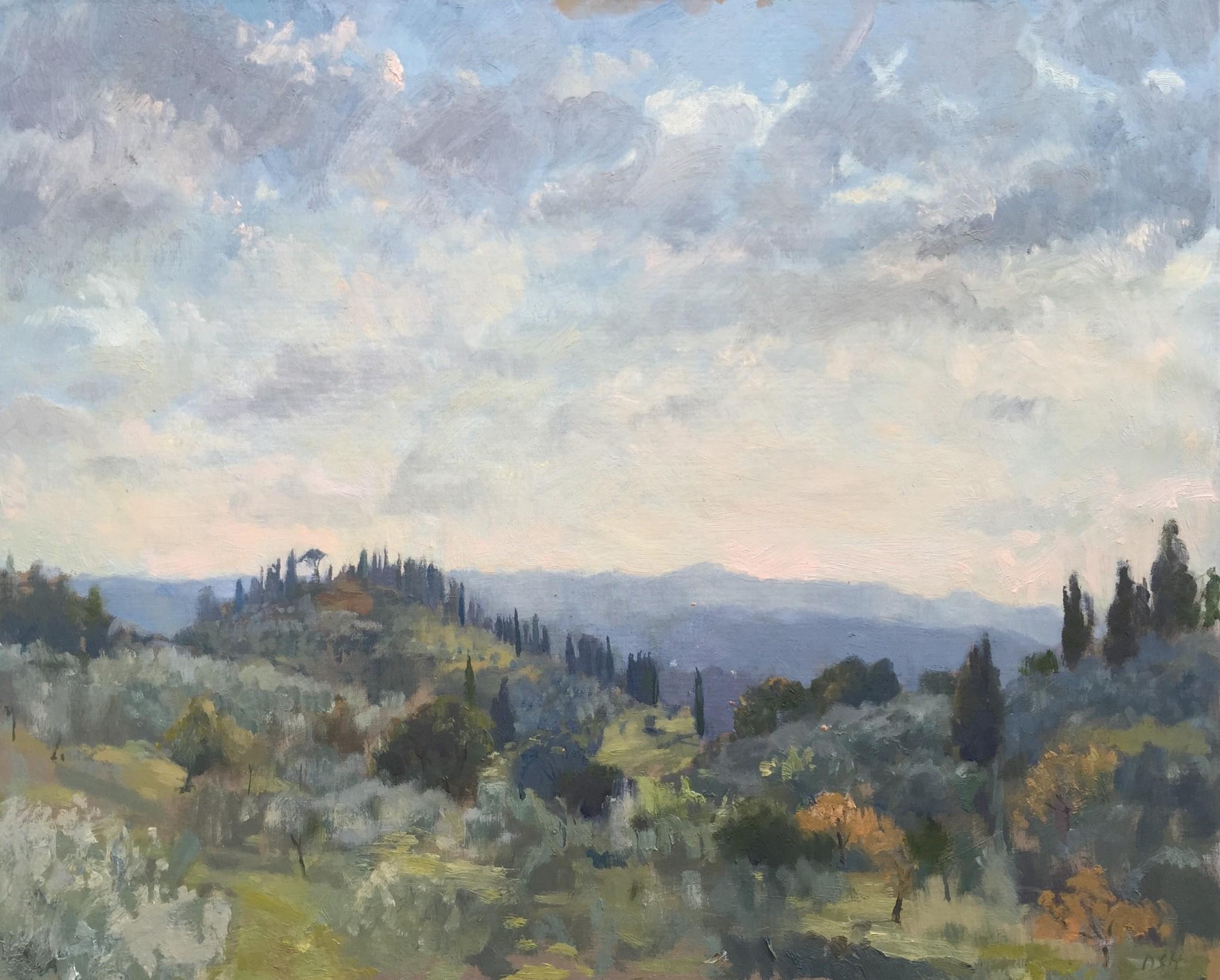 Light on the Olive Trees, Tuscany