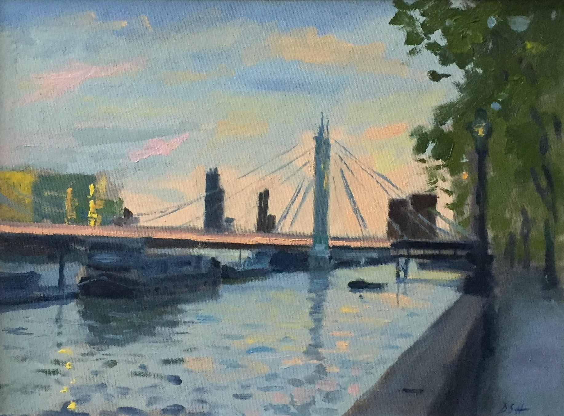 Summer Evening Light by the Albert Bridge