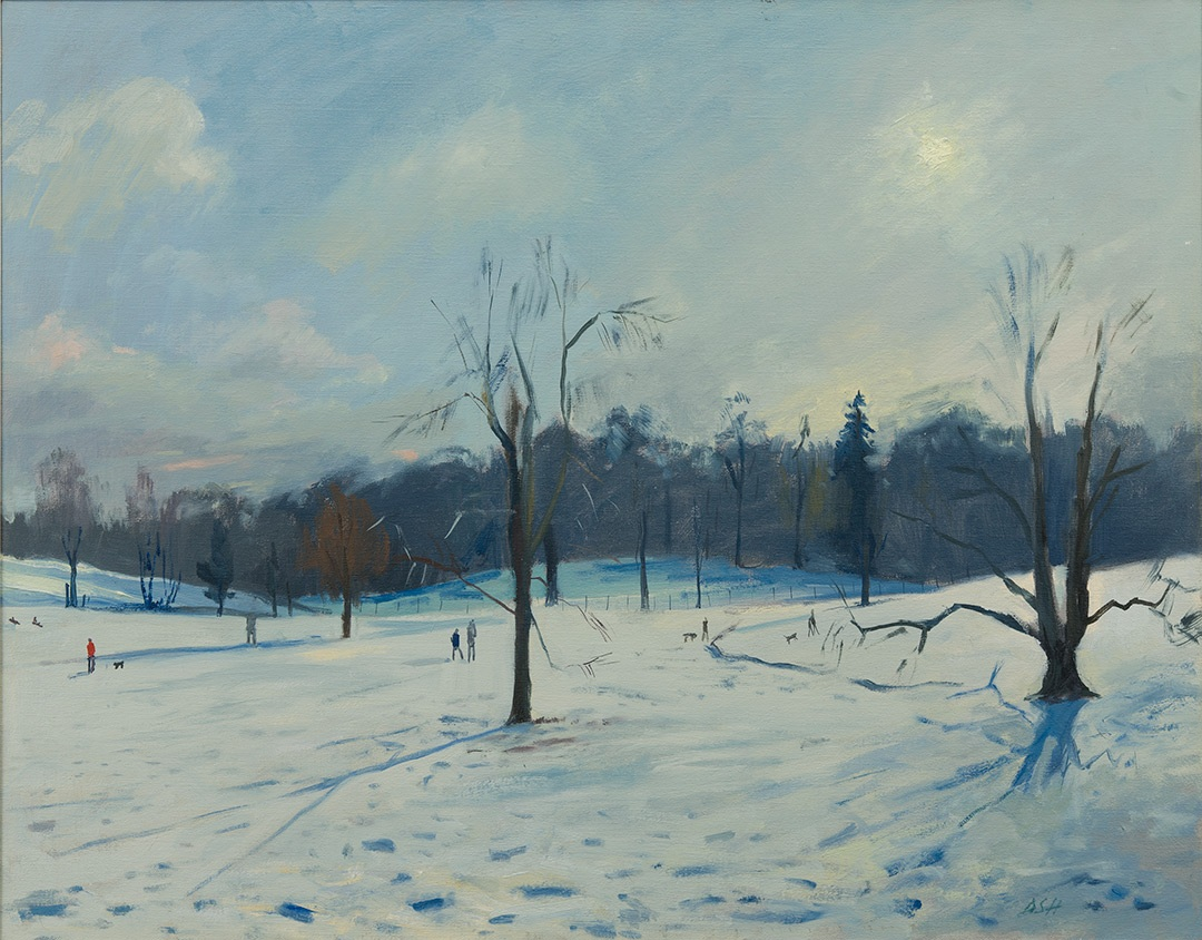 Morning Light, Snow at Kenwood House