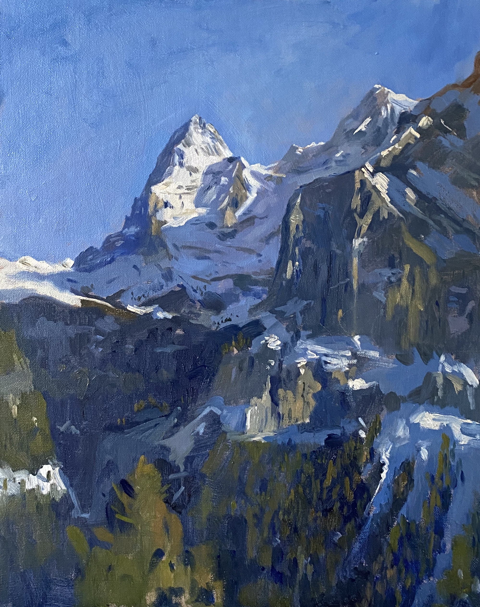 Afternoon Light, The Eiger from Murren