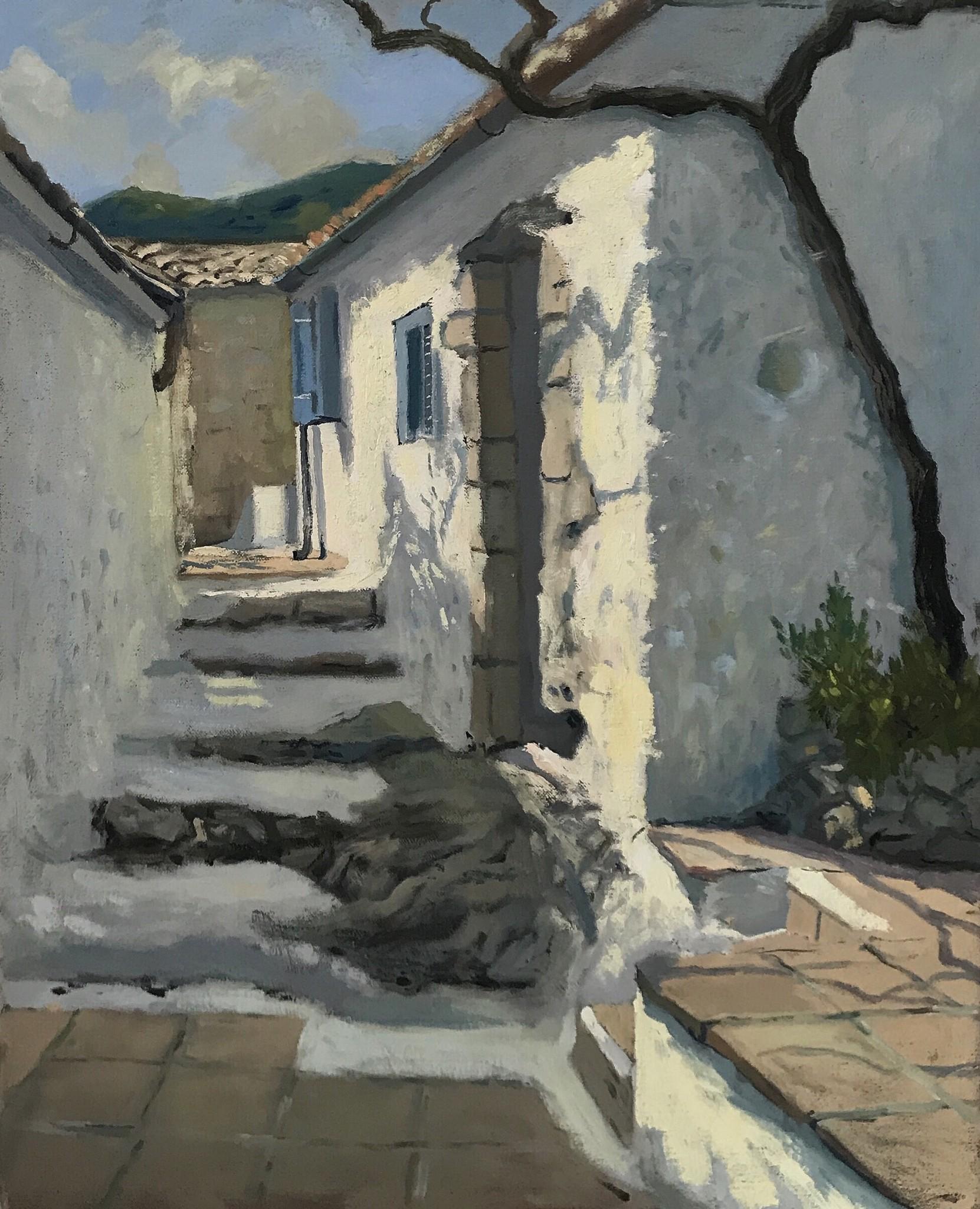 Afternoon Light on the White Walls, Zakynthos Villa