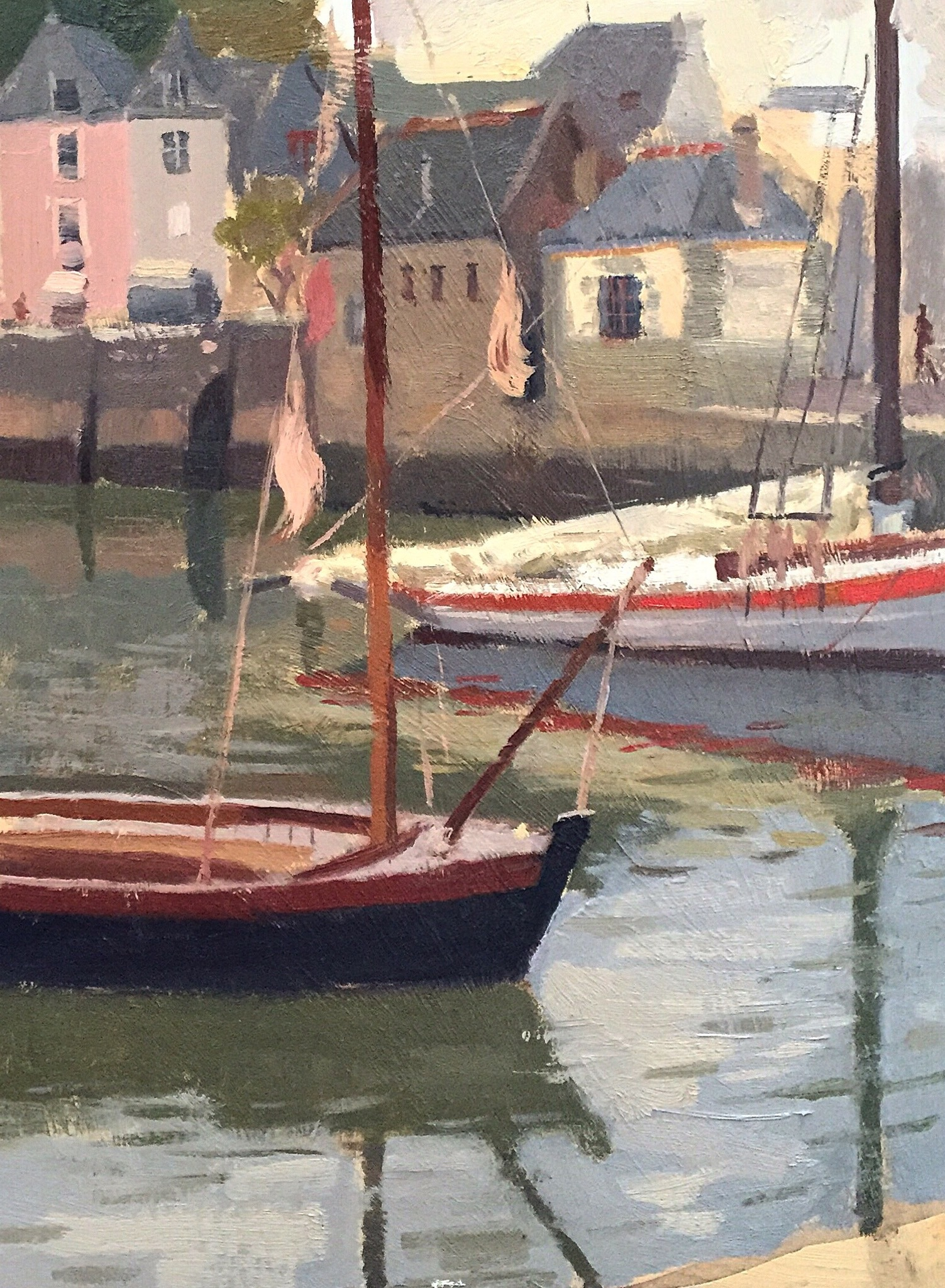 Boats in Aurey, Brittany