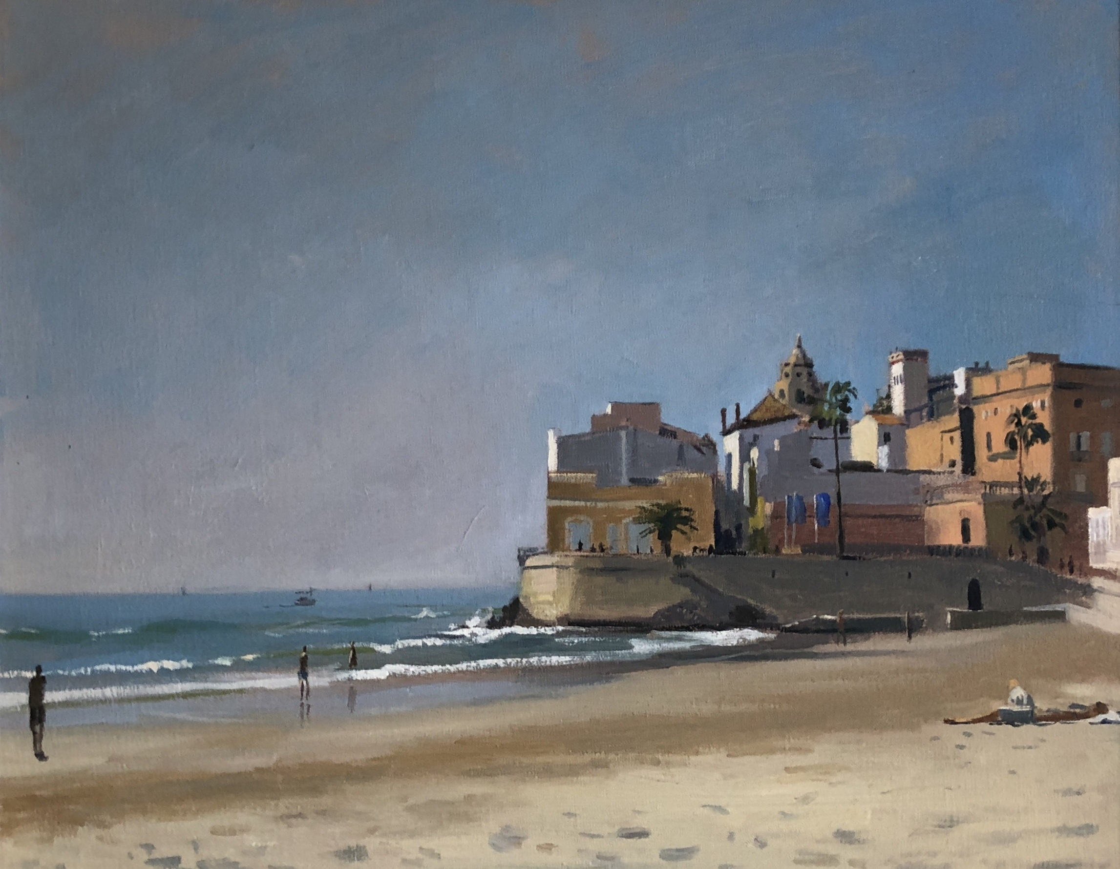 Morning light on the beach, Sitges