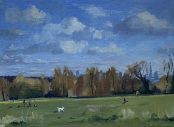 Autumnal Dog Walk, Hampstead heath