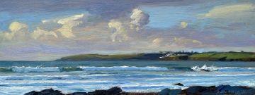Early light, Crashing Waves on Pendower beach