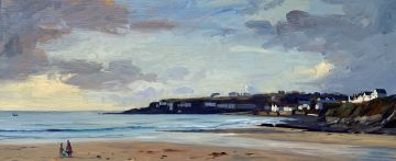 Autumn morning walk on Porthcurnick beach