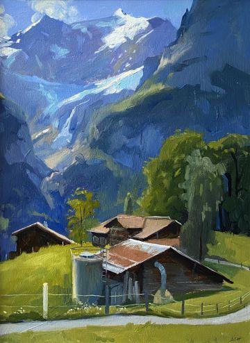 Summer Morning light, Grindelwald Chalets