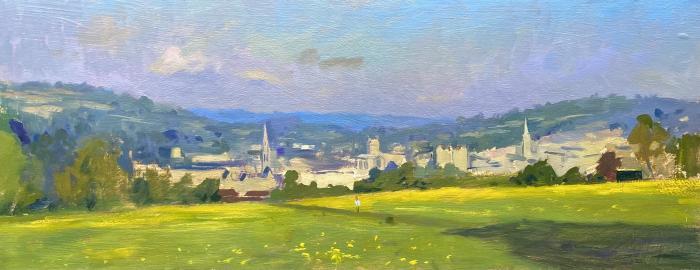 Spring morning, buttercups on Bathwick Fields