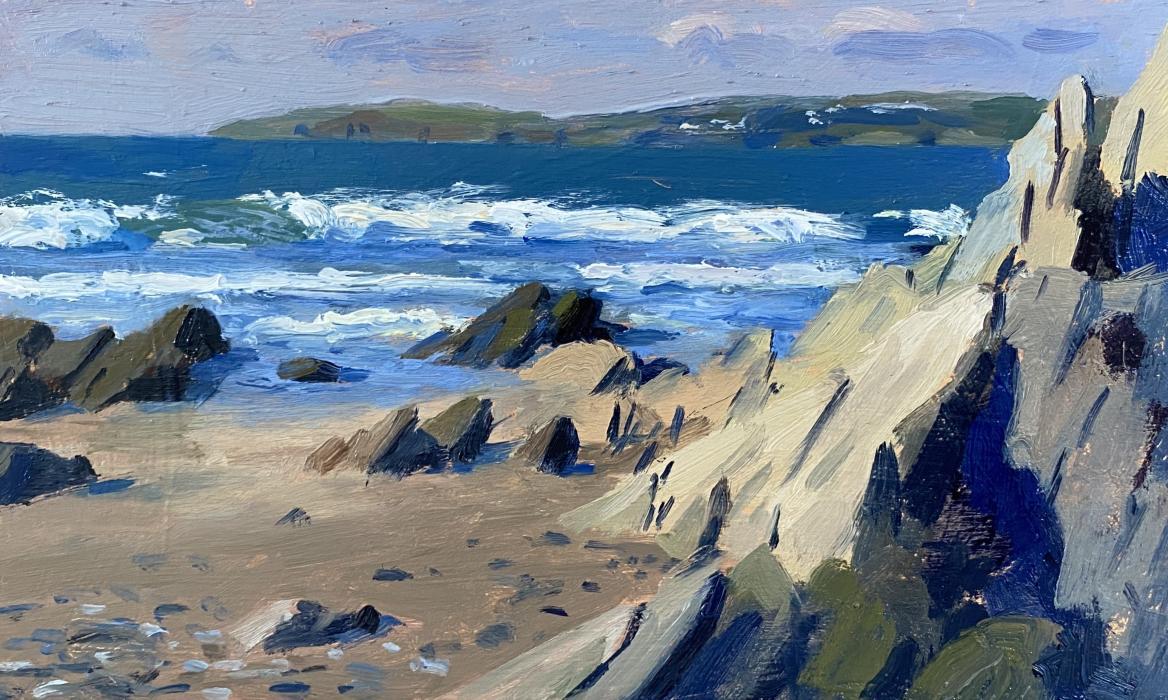 Crashing waves, Pendower beach