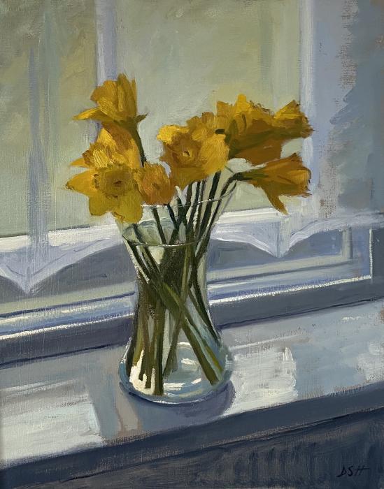 Spring Daffodils on Windowsill
